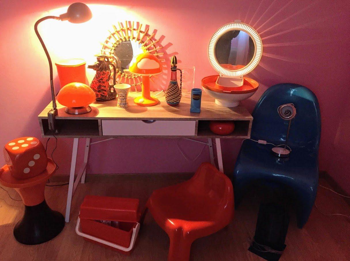 Superbe Table De Salon Vintage Roger Capron Modèle Planète