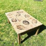 table de salon bois brut